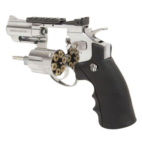 Revólver Airgun Rossi 708S Cromado CO2 4,5mm + Capa