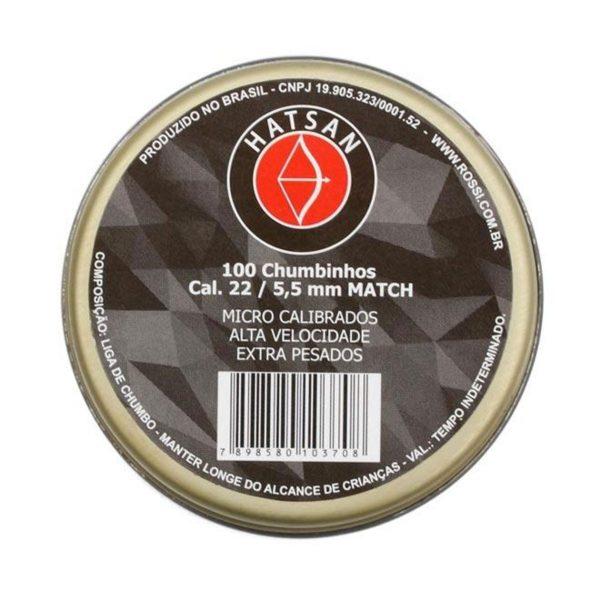 Chumbinho Hatsan Match 5,5mm 100un