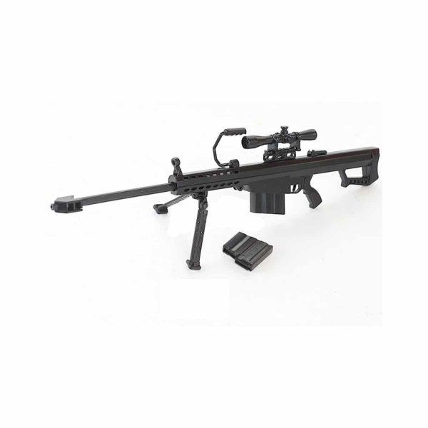 Miniatura Rifle Sniper Barret Trilho L Metal Escala 1:4
