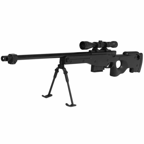 Miniatura Rifle Sniper L96 Black Metal Escala 1:4