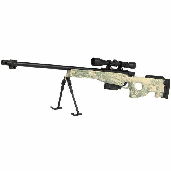 Miniatura Rifle Sniper L96 Camo Metal Escala 1:4
