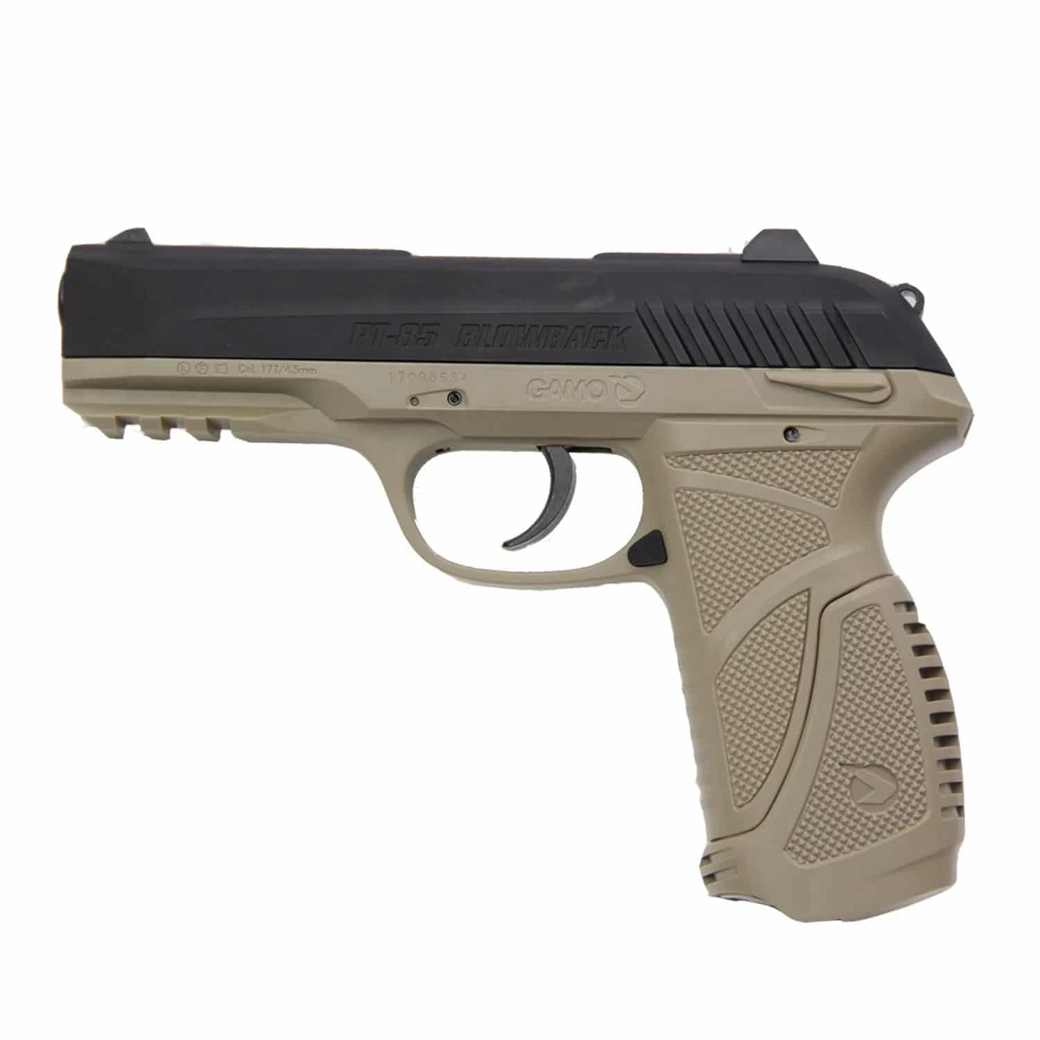Pistola Airgun Pressão Gamo PT-85 Desert Blowback Co2 4,5mm