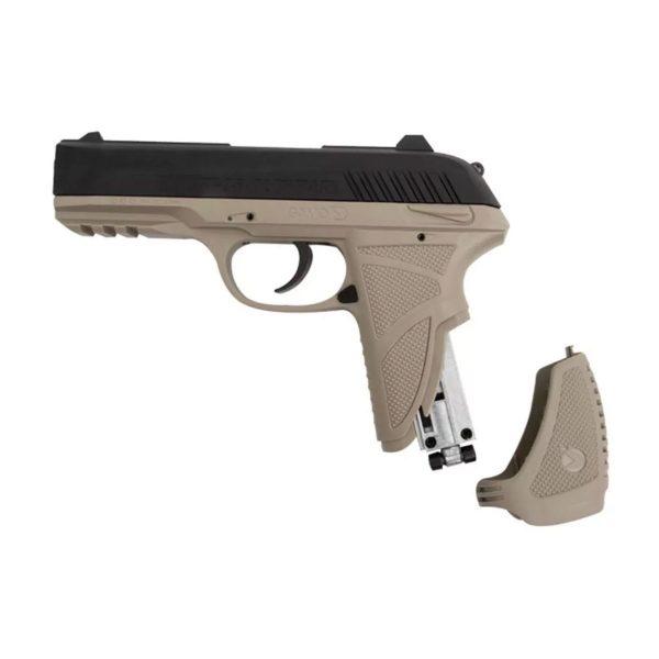 Pistola Airgun Pressão Gamo PT-85 Desert Blowback Co2 4,5mm