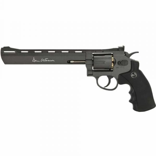 Revólver Dan Wesson 8″ Black Co2 Full Metal 4,5mm