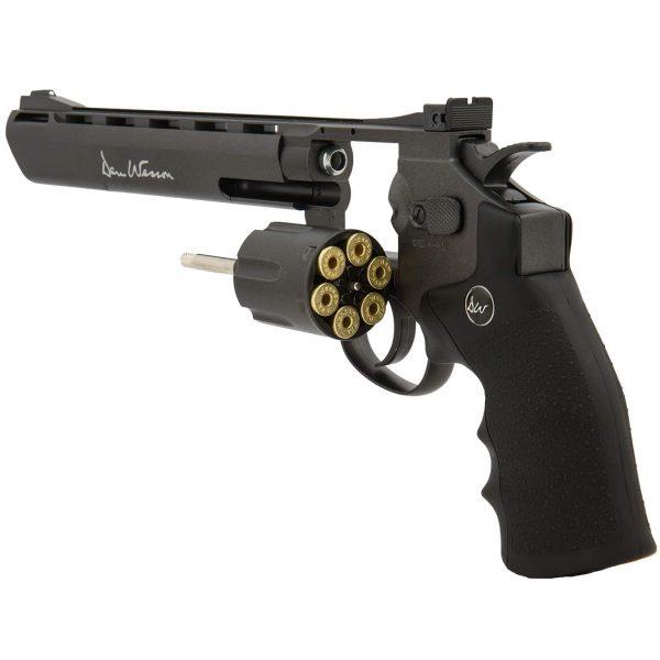 Revólver Dan Wesson 8″ Black Co2 Full Metal 4,5mm