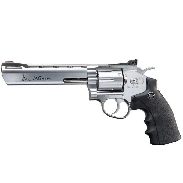 Revólver Dan Wesson 6″ Cromado Co2 4,5mm Metal