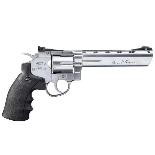 Revólver Dan Wesson 6″ Cromado Co2 4,5mm Metal