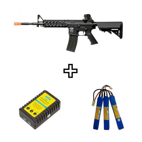 Rifle Airsoft G&G CM16 Raider-L Elétrico AEG 6mm Kit