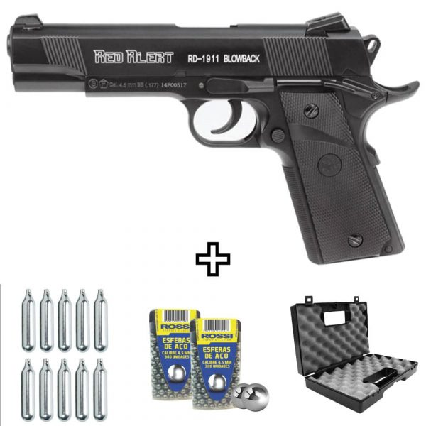 Pistola Co2 Gamo Red Alert RD-1911 Blowback 4,5mm Kit