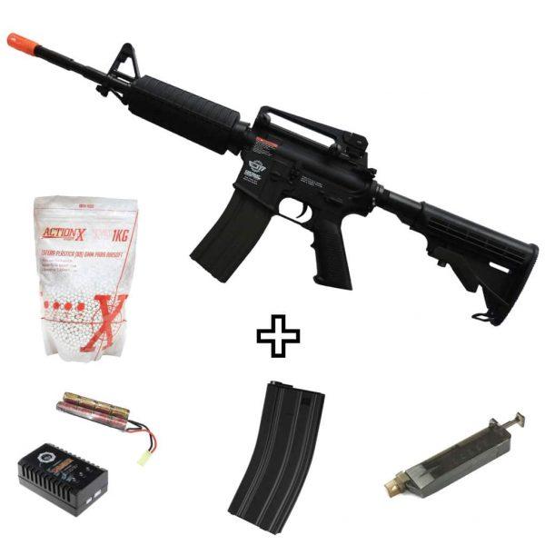 Rifle Airsoft G&G CM16 Carbine Elétrico AEG 6mm + Magazine