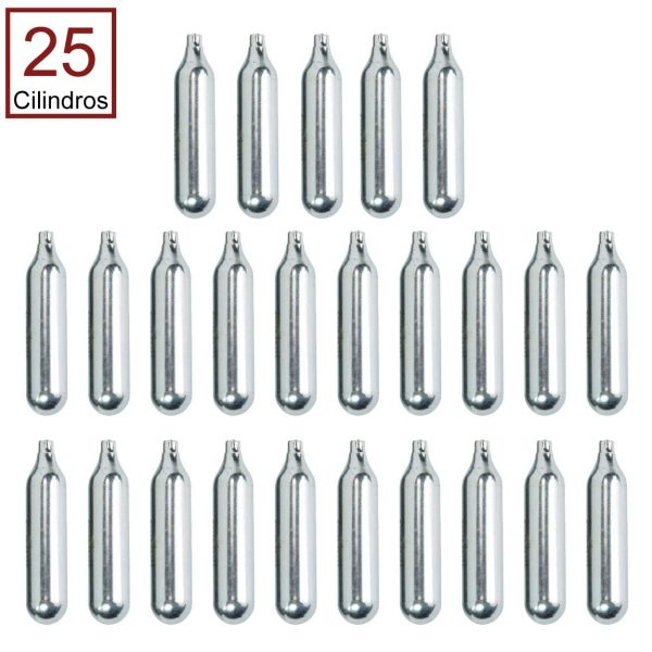 25 Cilindros de Co2 12g para Airsoft e Airguns