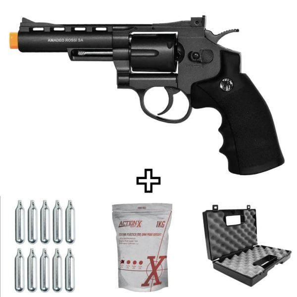 Revolver Airsoft Rossi M701 4″ Co2 Full Metal 6mm Kit