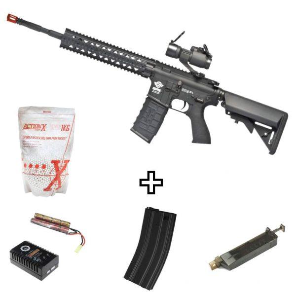 Rifle Airsoft M4 CM16 R8-L G&G AEG com Red Dot