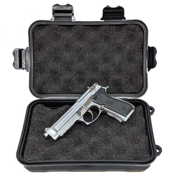 Miniatura de Pistola Beretta M92FS Chrome 1:2 Shell Ejecting