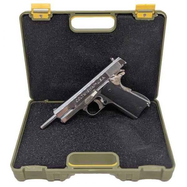 Miniatura de Pistola Colt 1911A1 Chrome 1:2 Metal