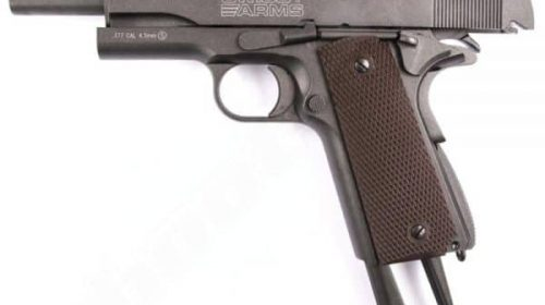 Pistola 1911 Co2 Swiss Arms Blowback Full Metal 4,5mm Kit