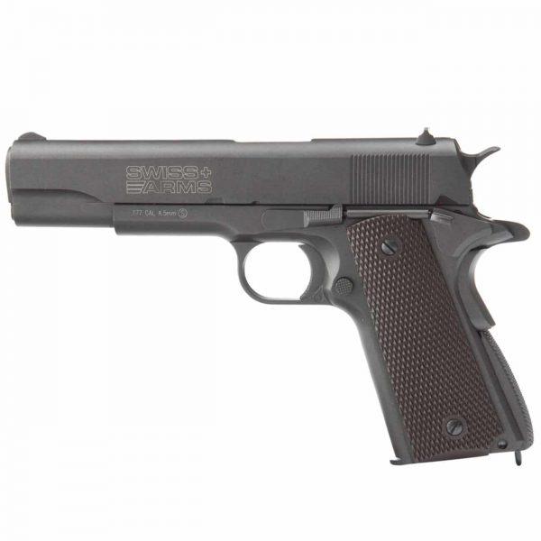 Pistola 1911 Co2 Swiss Arms Blowback Full Metal 4,5mm Kit