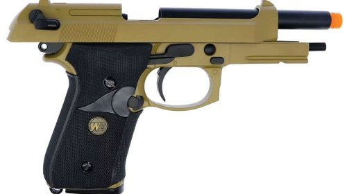 Pistola Airsoft Beretta M92 TAN Desert GBB Full Metal Kit