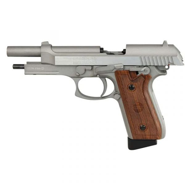 Pistola Airgun SA92 Swiss Arms Co2 Blowback Full Metal 4,5mm Kit