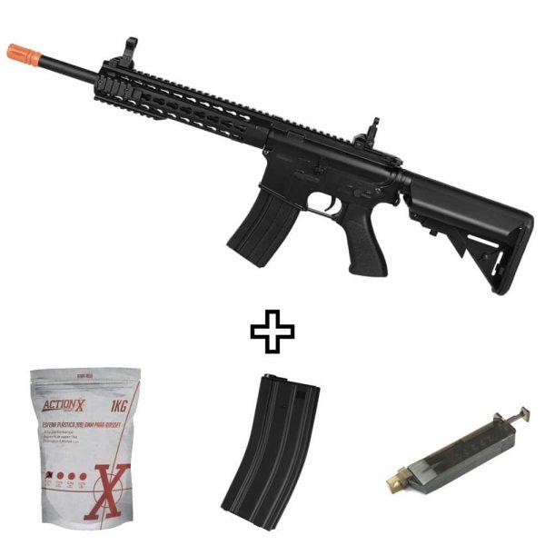 Rifle Airsoft Cyma M4A1 Custom CM515 Elétrico 6mm Kitrifle