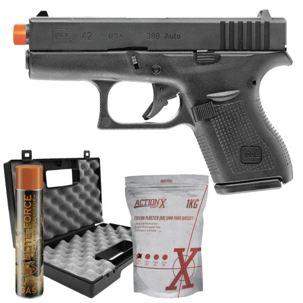 Pistola Airsoft Glock G42 GGB Blowback Umarex 6mm Kit