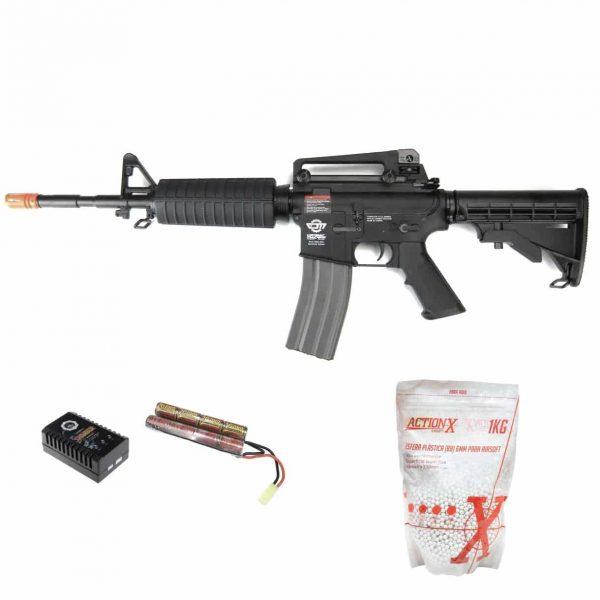 Rifle Airsoft G&G CM16 Carbine AEG 6mm + BBs + Bateria