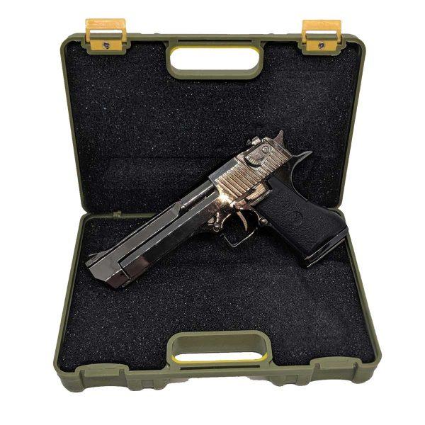 Miniatura Pistola Desert Eagle Preta Metal