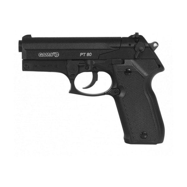 Pistola Airgun Pressão Gamo PT-80 de Chumbinho Co2 4,5mm Kit