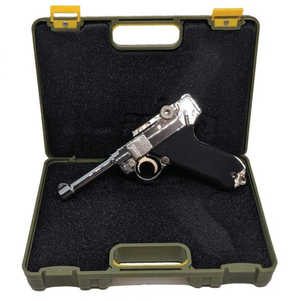 Miniatura de Pistola Luger P08 Chrome 1:2 Metal