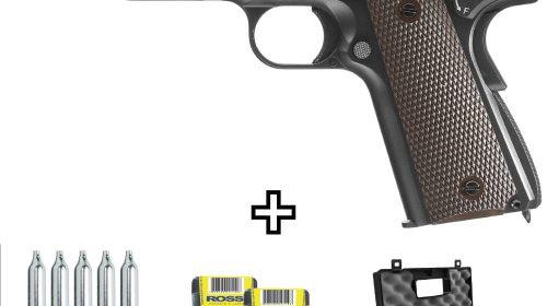 Pistola de Pressão Remington 1911 RAC CO2 4,5mm Kit
