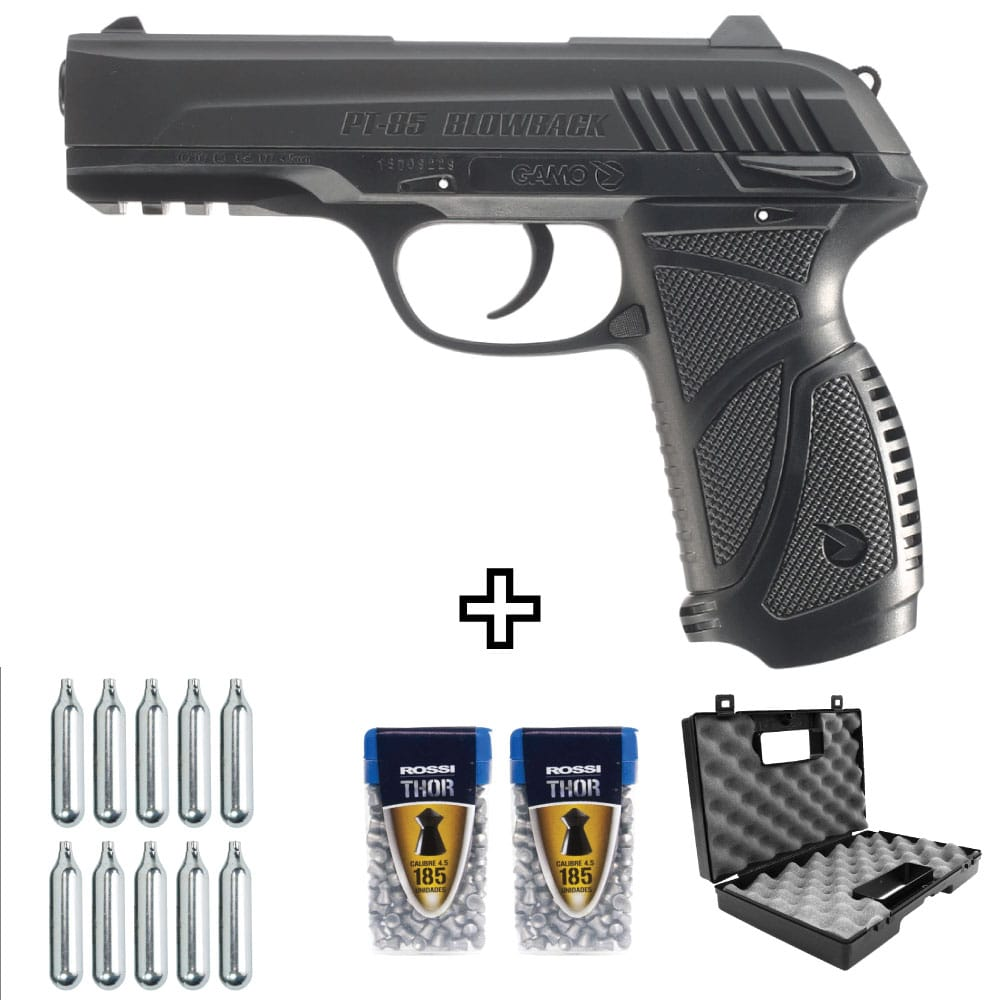 Pistola de Chumbinho Co2 Gamo PT-85 Blowback Kit
