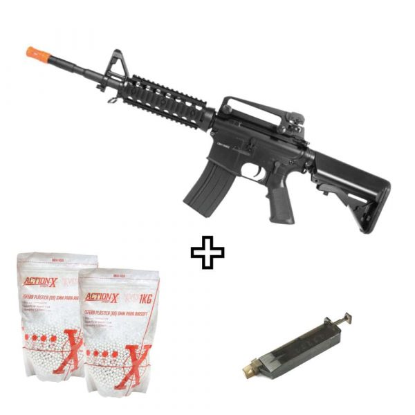 Rifle Airsoft Cyma M4A1 Ris Cm507 Elétrico 6mm Kit