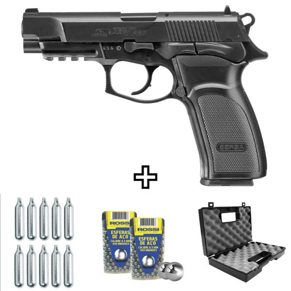 Pistola Pressão Bersa Thunder 9 Pro Co2 4,5mm Kit