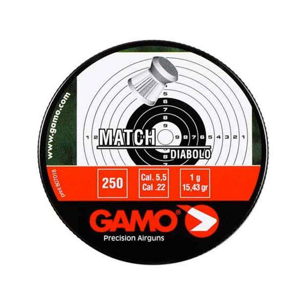 Chumbinho Gamo Match Diabolo 5,5mm 250 Un
