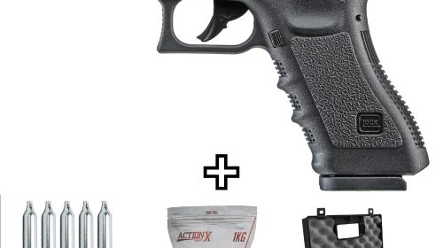 Pistola Airsoft Glock G17 CO2 Blowback Umarex 6mm kit