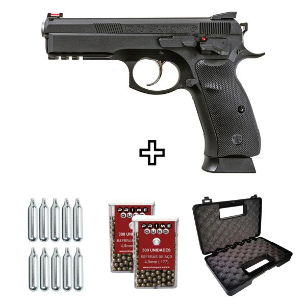 Pistola Airgun ASG CZ SP-01 Shadow CO2 4,5mm Kit