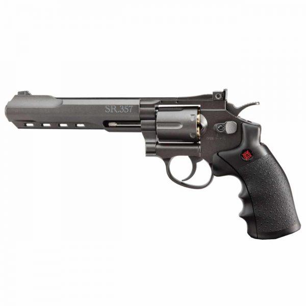 Revólver Airgun Crosman CO2 SR357 Black Full Metal 4,5mm