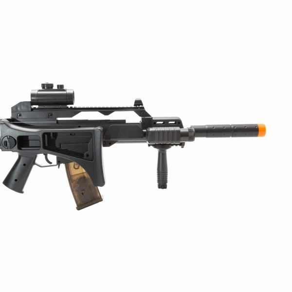 Rifle Airsoft G36 CM021 Cyma Toy Elétrico 6mm c/ Lanterna e Red Dot