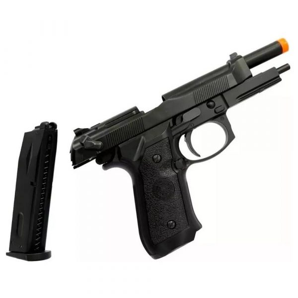 Kit Pistola Airsoft PT92 HFC Blowback Metal GBB 6mm