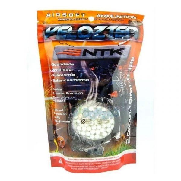 BBs Esferas de Airsoft Velozter .12g NTK 2000Un 6mm