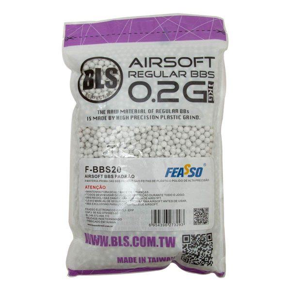 BBs Munição Airsoft Feasso BLS .20g Esfera 6mm 5000un