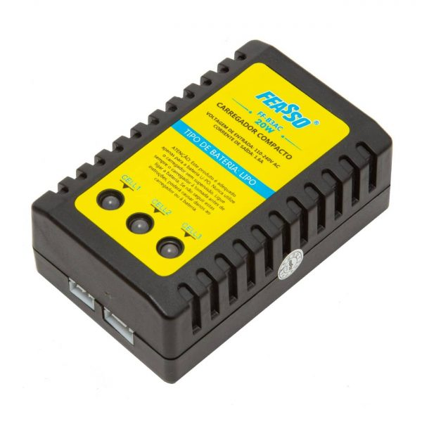 Carregador B3 de Bateria Lipo e Life para Airsoft Bivolt