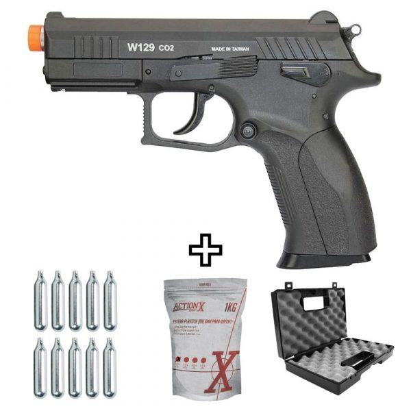 Kit Pistola Airsoft W129 CZ300 Blowback Co2 6mm