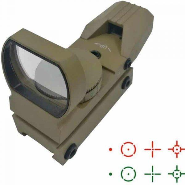 Mira Holográfica Green/Red Dot Hauska Airsoft Multi 4 Milan Scope para armas