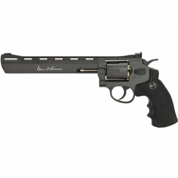 Kit Revólver Dan Wesson 8″ Black Co2 Full Metal 4,5mm