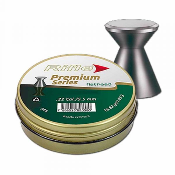 Chumbinho Premium Series 5.5mm .22 Flat Head com 250unid.