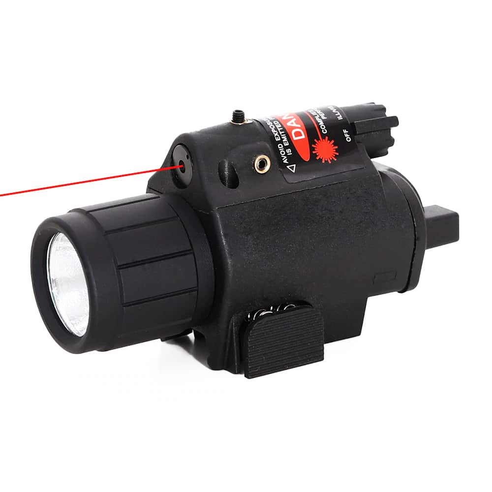 Lanterna Tática Led com Mira Laser Red para Armas e Pistolas