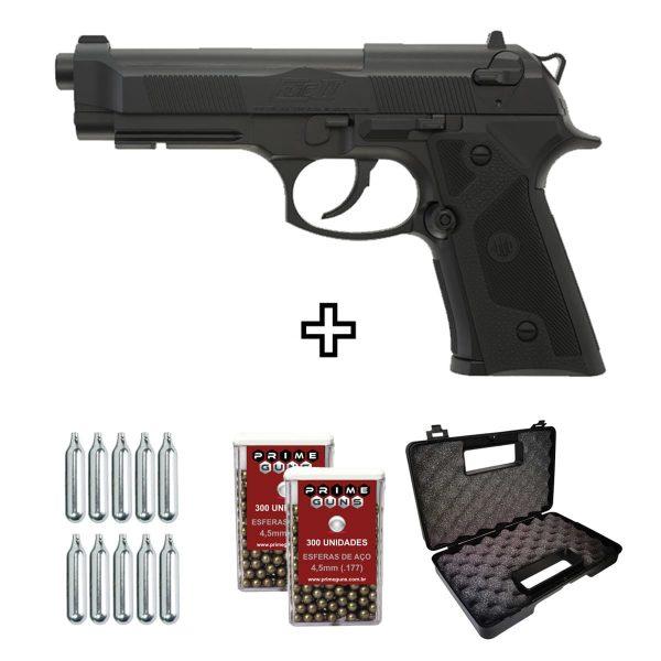 Pistola Airgun Beretta Elite II Co2 4,5mm Umarex Kit