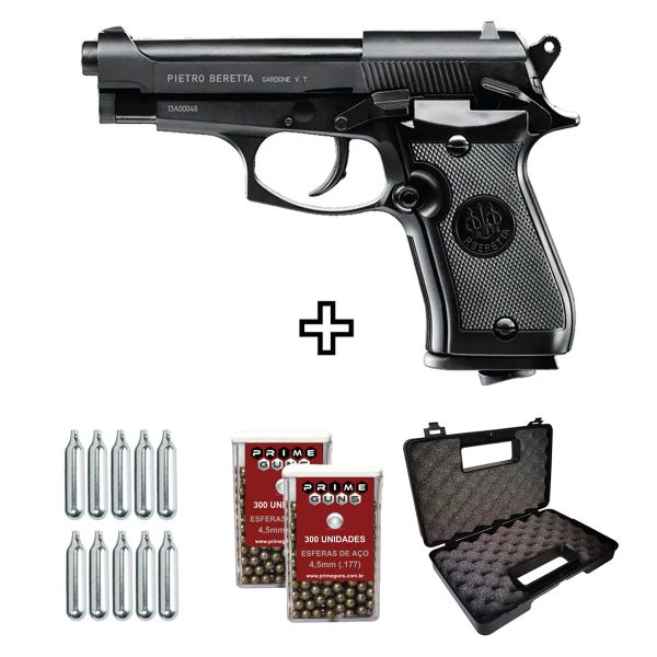 Pistola Airgun Beretta 84FS Blowback Co2 4,5mm Umarex