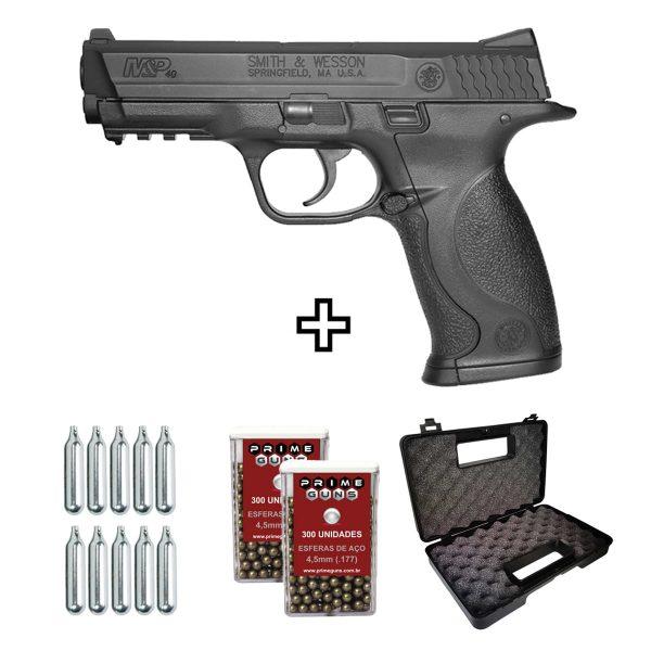Pistola Airgun Smith Wesson MP40 Co2 4,5mm Metal Slide